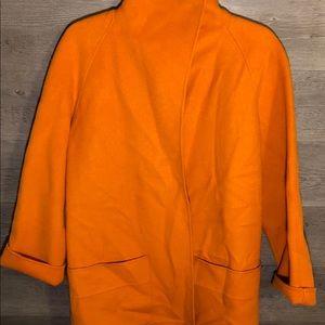 Jackets & Blazers - Oversized Wool open blazer/coat - Orange